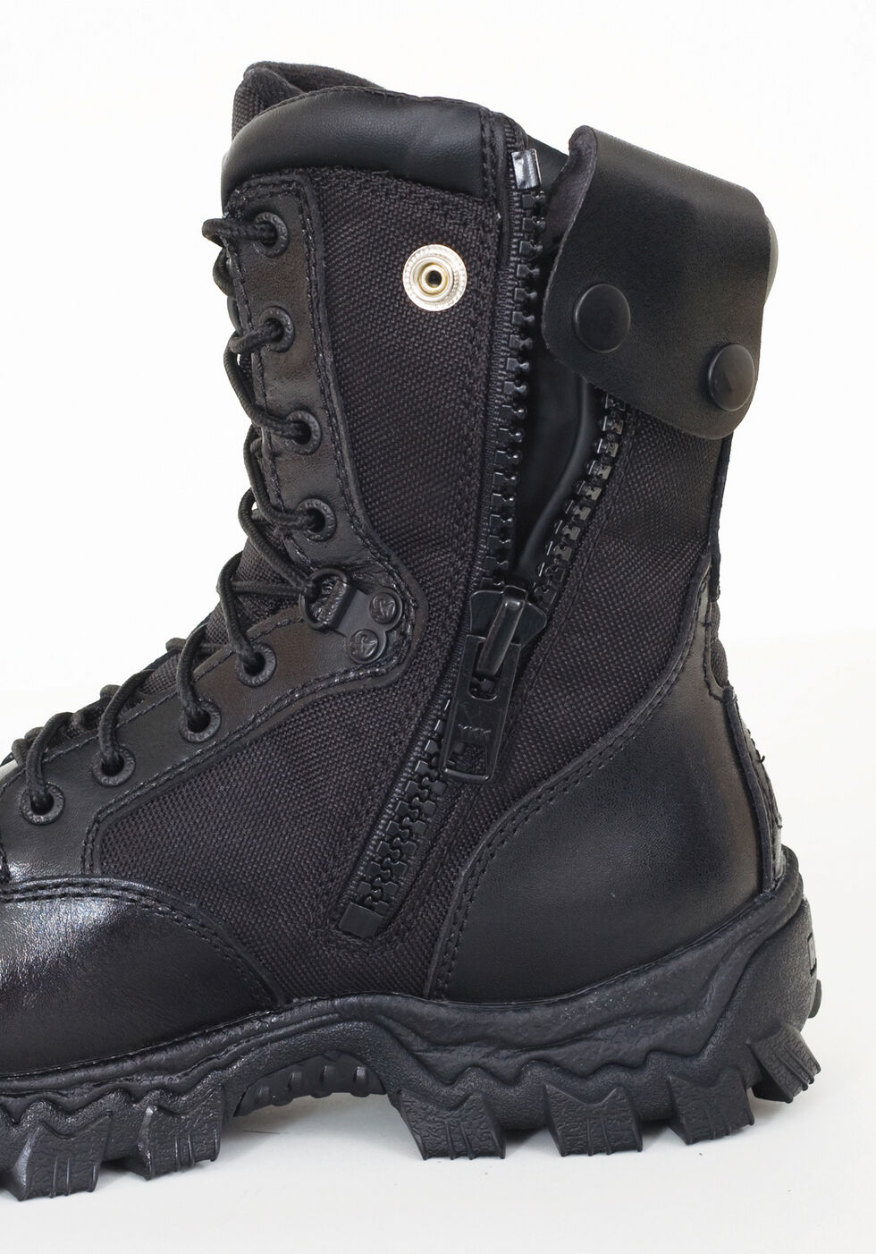 Rocky Men's Alphaforce Waterproof Zipper Composite Toe Duty Boots, Black, hi-res