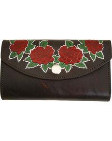 Western Express Women's Rose Brown Leather Organizer Wallet, Brown, hi-res