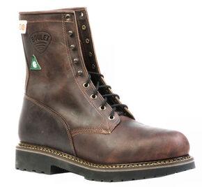 Boulet Laid Back Copper Lace-Up Work Boots - Steel Toe, Copper, hi-res