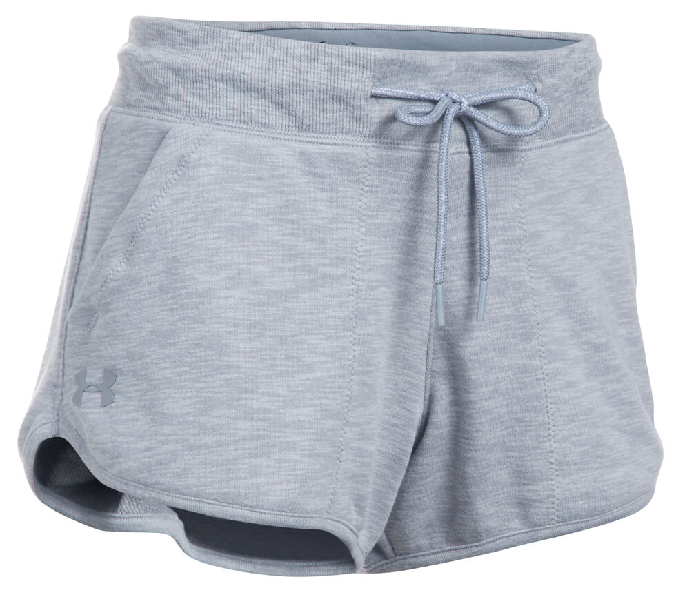 Under Armour Women's Grey Ocean Shoreline Terry Shorts, Grey, hi-res