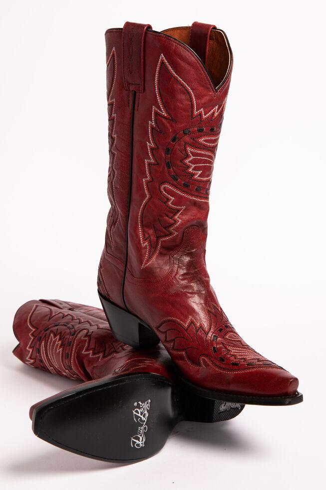 Dan Post Sidewinder Cowgirl Boots - Snip Toe, Red, hi-res