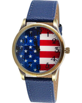 Shyanne Women's Americana Flag Watch, Red/white/blue, hi-res