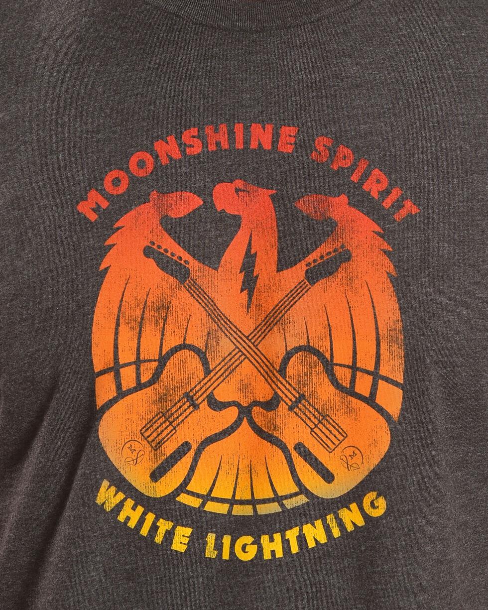 Moonshine Spirit Men's White Lightning Short Sleeve T-Shirt, Charcoal, hi-res