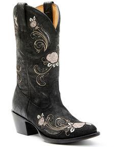 Shyanne Women's Grazia Western Boots - Round Toe, Black, hi-res