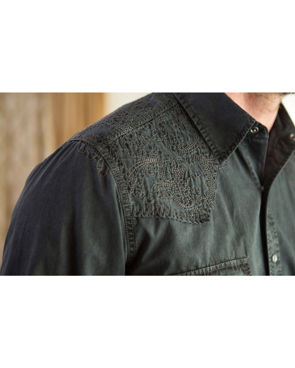 Ryan Michael Men's Caviar Aztec Embroidered Shirt , Slate, hi-res