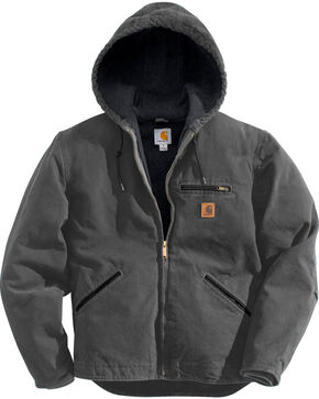 Carhartt Sierra Sherpa Lined Work Jacket, Dark Grey, hi-res