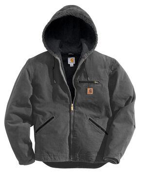 Carhartt Sierra Sherpa Lined Work Jacket - Big & Tall, Dark Grey, hi-res