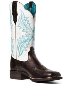 Ariat Women's West Bound Western Boots - Square Toe, Brown, hi-res