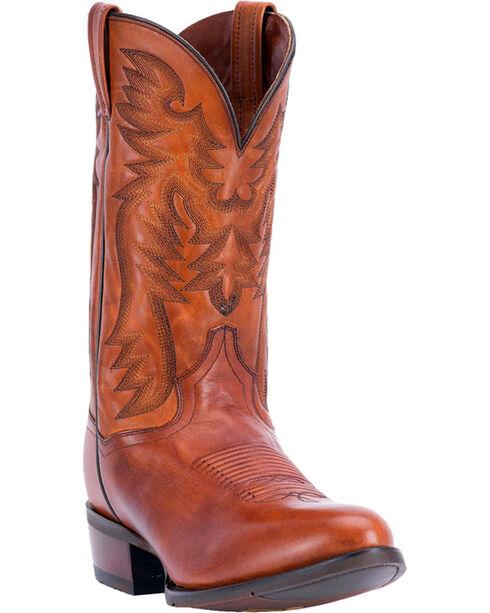 Dan Post Men's Centennial Cognac Western Boots - Round Toe, Cognac, hi-res