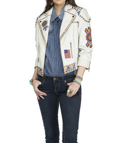 Double D Ranch Women's Heritage Head Jacket , White, hi-res