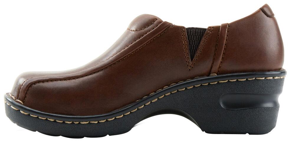 Eastland Women's Brown Tracie Slip-Ons , Brown, hi-res
