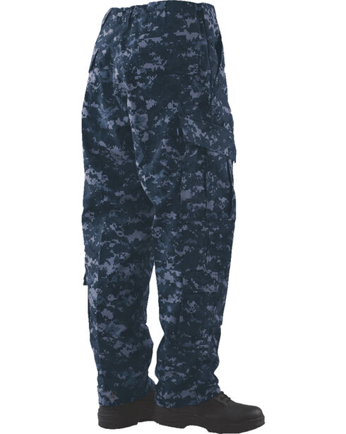 Tru-Spec Tactical Response Camo RipStop Uniform Pants - Big and Tall, Midnight, hi-res