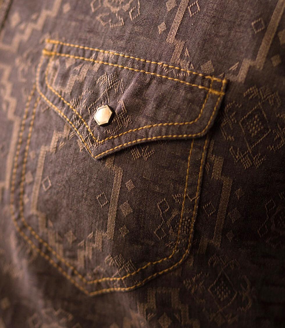 Ryan Michael Men's Aztec Silk Jacquard Shirt, Chestnut, hi-res