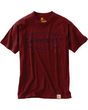 Carhartt Men's Maddeock Build By Hand Graphic Tee , Chilli, hi-res