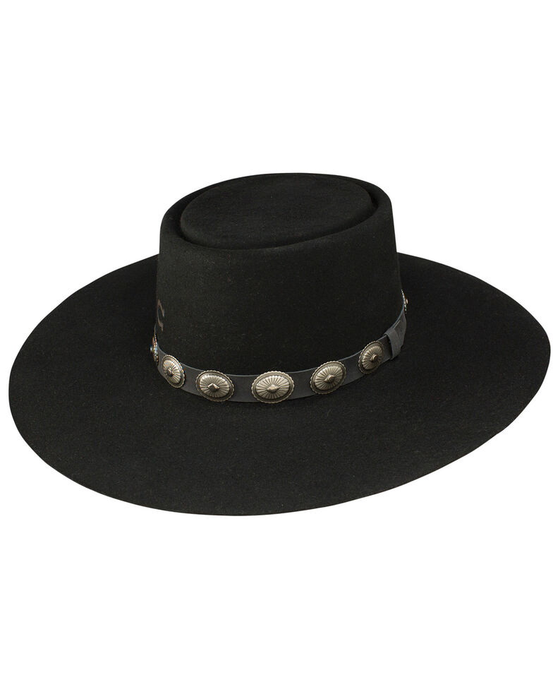 Charlie 1 Horse Women's High Desert Wool Felt Western Hat, Black, hi-res