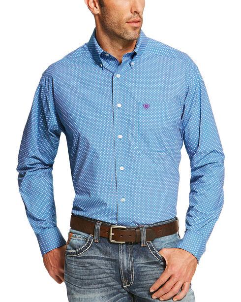 Ariat Men's Blue Potter Print Western Shirt , Blue, hi-res