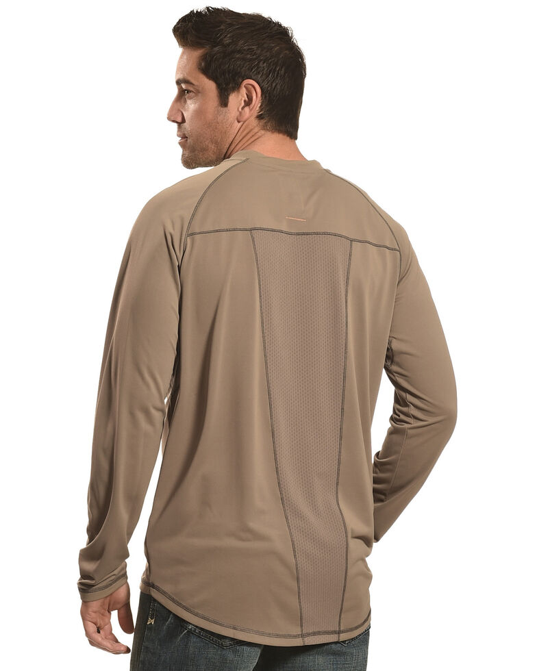 Ariat Men's Rebar Sun Stopper Long Sleeve Work Shirt , Brown, hi-res