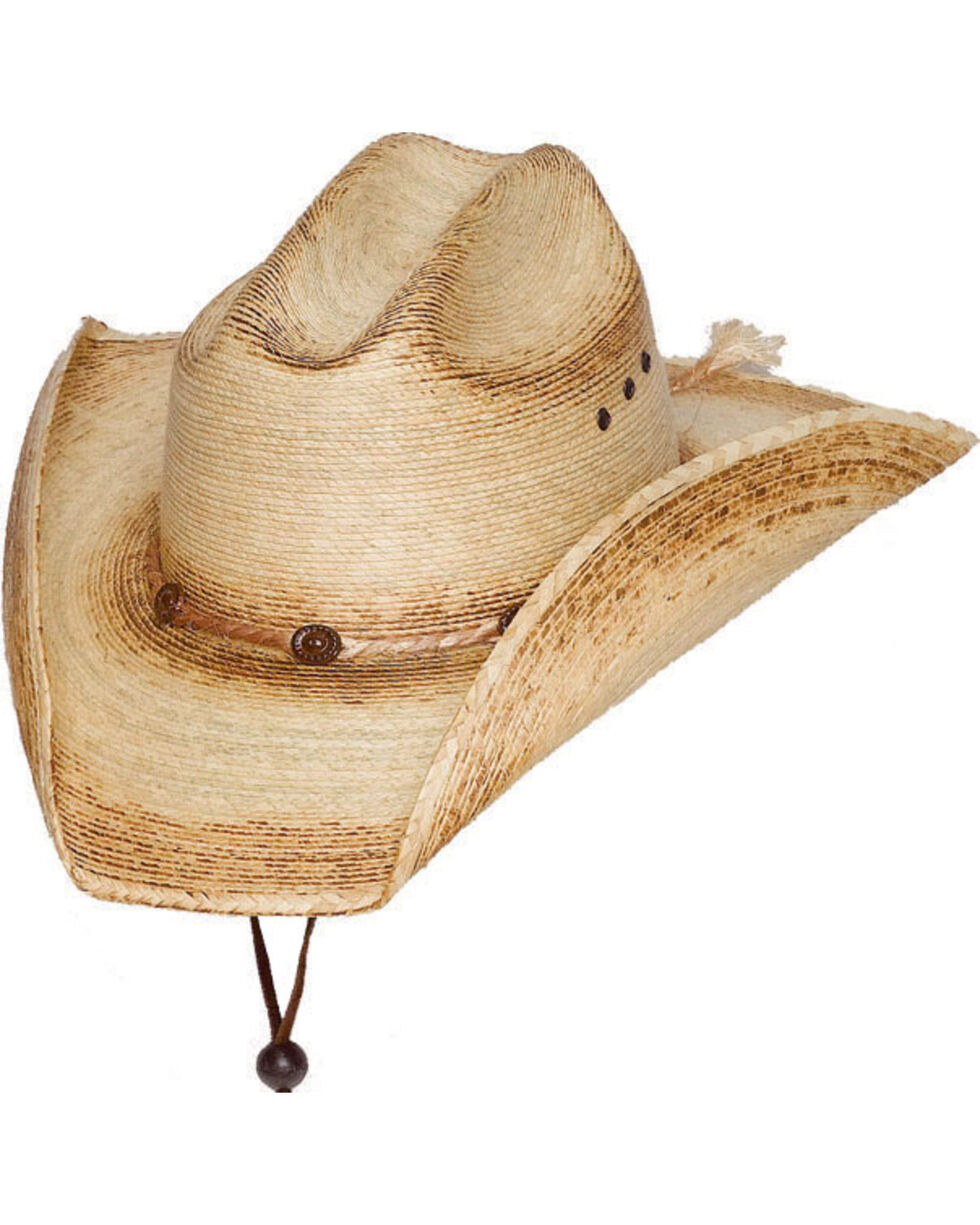 Western Express Kids' Cattleman Palm Sonora Western Hat, Tan, hi-res