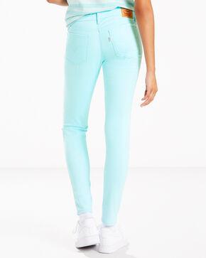 Levi's Women's Aqua 710 Colored Jeans - Skinny , Indigo, hi-res