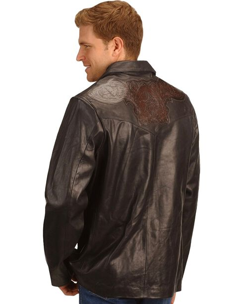Kobler Hand Tooled Leather Blazer, Black, hi-res