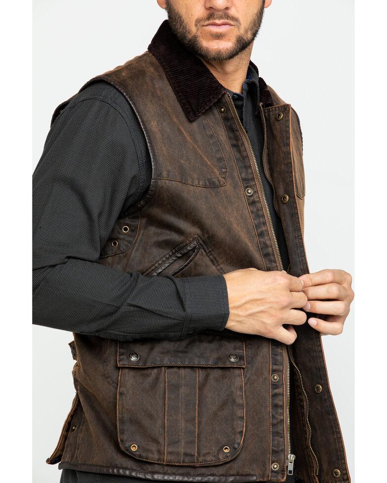 Cripple Creek Men's Enzyme Washed Cotton Concealed Carry Vest , Dark Brown, hi-res