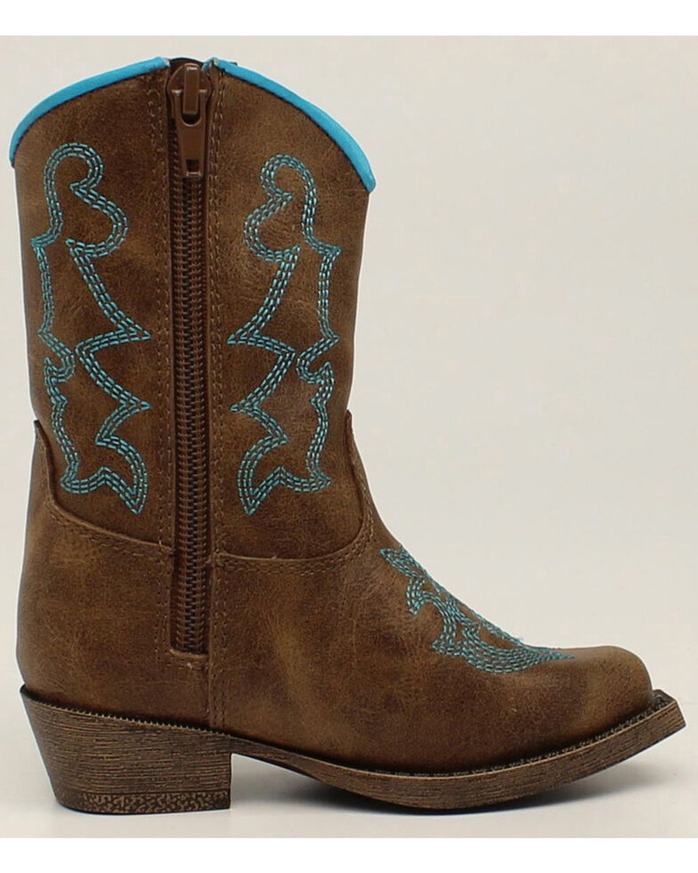 Blazin Roxx Toddler Girls' Zip Caroline Boots - Snip Toe, Brown, hi-res