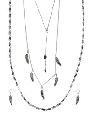 Shyanne Women's Feather & Arrow Jewelry Set, Silver, hi-res
