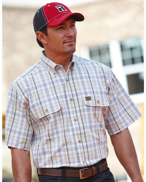 Wrangler Riggs Foreman Plaid Western Shirt, Grey, hi-res