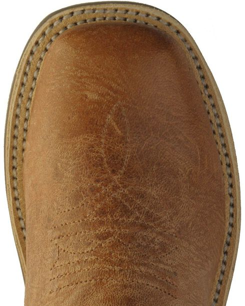 Old West Youth Boys' Cross Inlay Cowboy Boots - Square Toe, Tan, hi-res