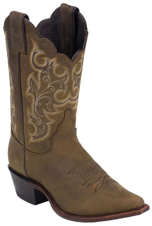 Justin Bay Apache Western Cowgirl Boots - Snip Toe, Bay Apache, hi-res