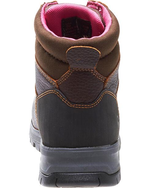 "Wolverine Women's Brown Piper Waterproof 6"" Work Boots - Round Toe , Brown, hi-res"