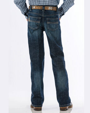 Cinch Boys' Carter Dark Wash Regular Fit Jeans (8-18) - Boot Cut, Blue, hi-res