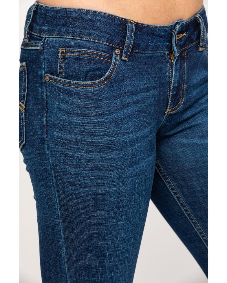 Wrangler Women's Harmony Mid-Rise Straight Jeans, Blue, hi-res
