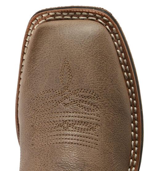 Laredo Fancy Stitched Purple Cowgirl Boots - Square Toe, Dark Brown, hi-res