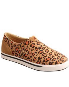 Twisted X Girls' Leopard Print Shoes - Moc Toe, Tan, hi-res