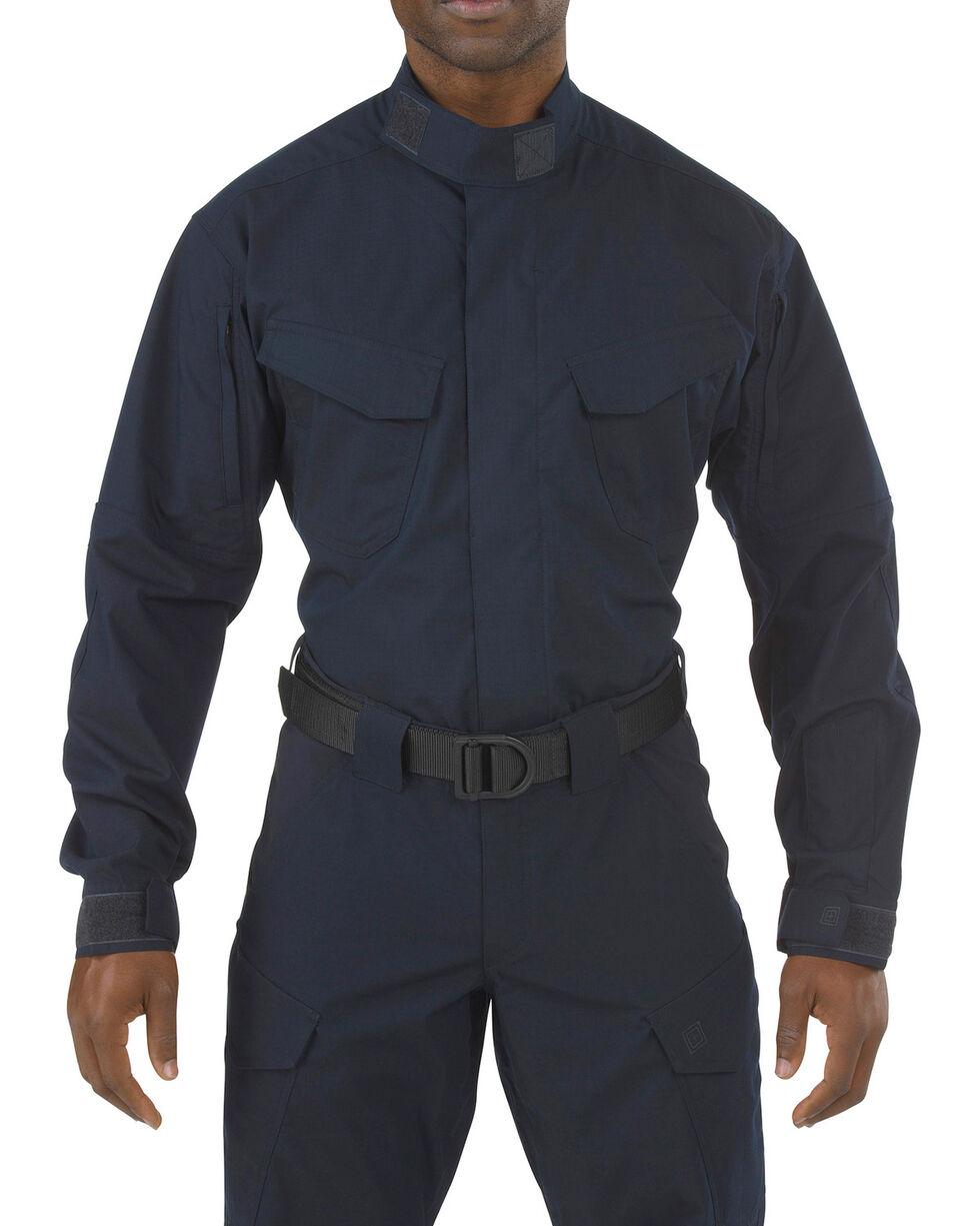 5.11 Tactical Stryke TDU Long Sleeve Shirt - Tall Sizes (2XT - 5XT), Navy, hi-res