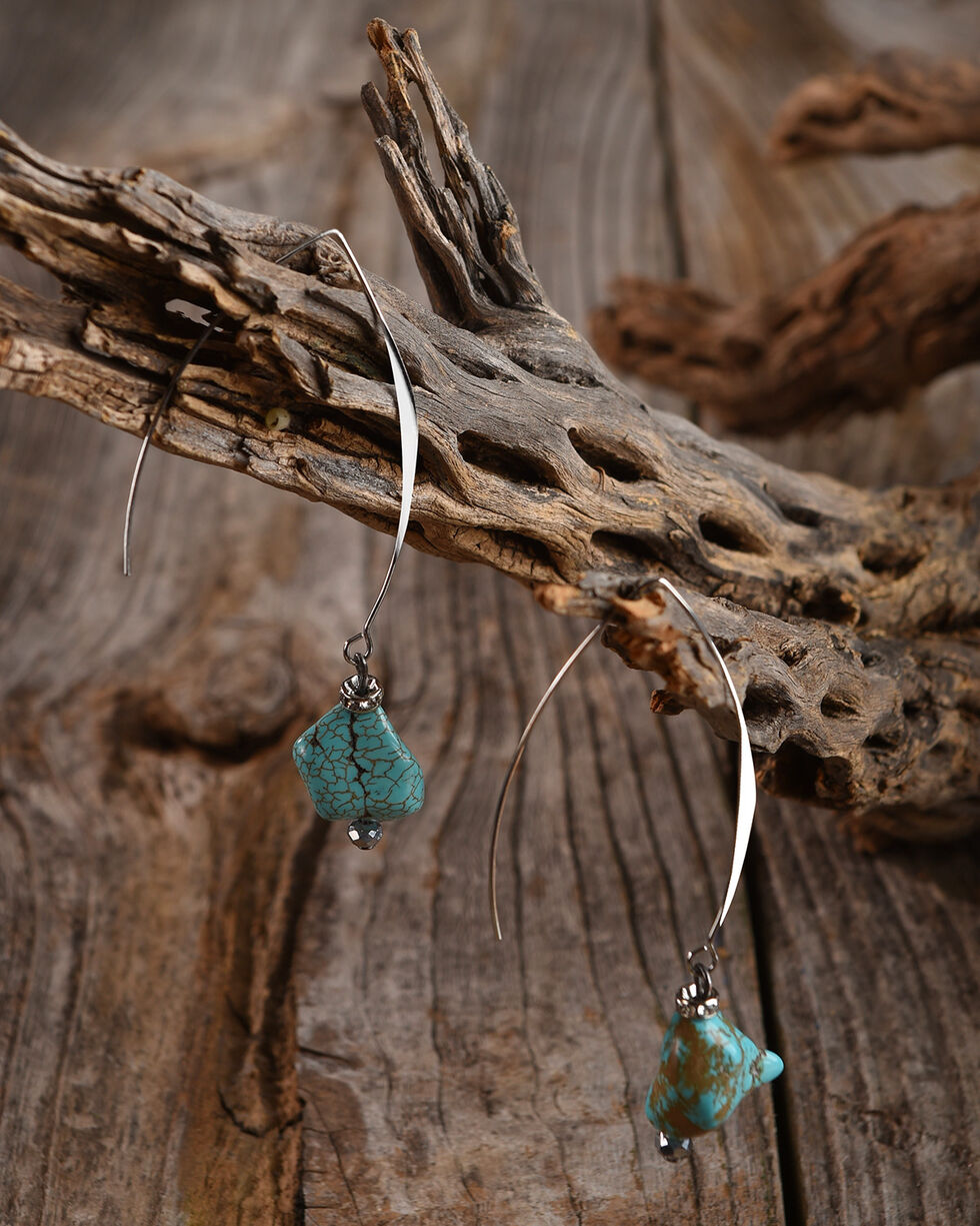 Lost & Found Women's Turquoise Nugget Earrings, Turquoise, hi-res