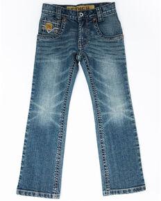 Cinch Boys' 8-18 Medium Stonewash Stretch Slim Boot Jeans , Blue, hi-res