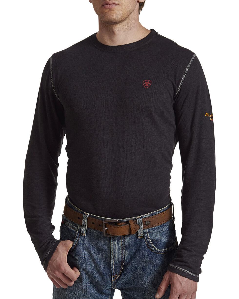 Ariat Men's Black FR Polartec Baselayer Long Sleeve Shirt , Black, hi-res