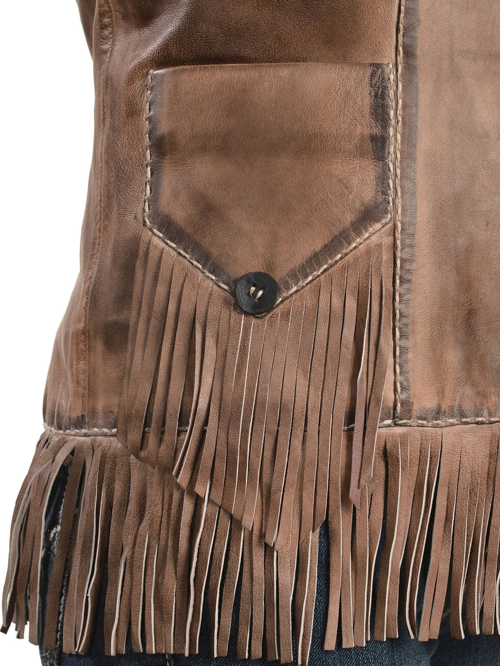 Scully Lamb Leather Fringe Jacket, Brown, hi-res