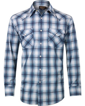 Pendleton Men's Grid Plaid Long Sleeve Shirt, Blue, hi-res