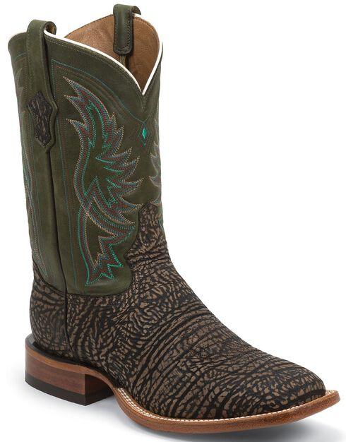 Tony Lama San Saba Distressed Cowboy Boots - Square Toe, Bark, hi-res