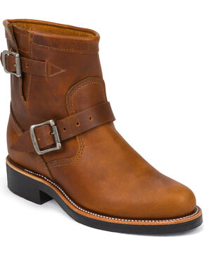 Chippewa Women's Renegade Engineer Boots - Round Toe, Tan, hi-res