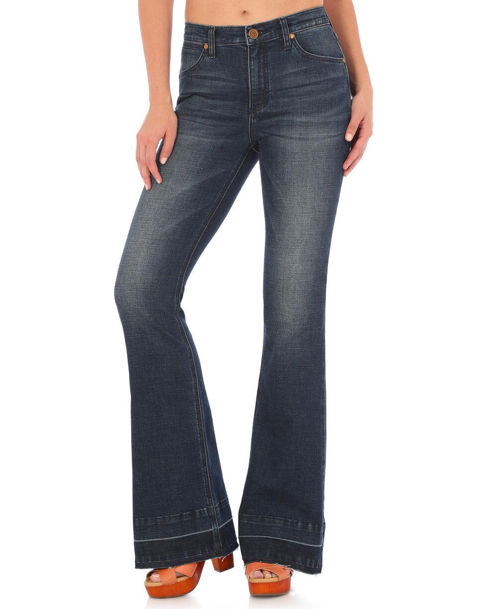 Wrangler Women's Retro Mae High Rise Flare Jeans, Indigo, hi-res