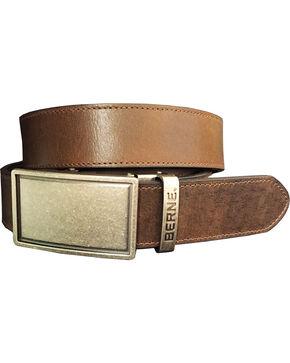 Berne Men's Brown Genuine Leather Buckle Belt, Dark Brown, hi-res