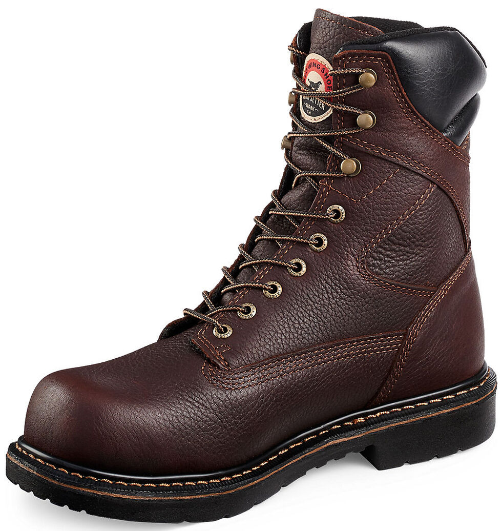 "Irish Setter by Red Wing Shoes Men's 8"" Farmington Lace-Up Work Boots- Steel Toe , Brown, hi-res"
