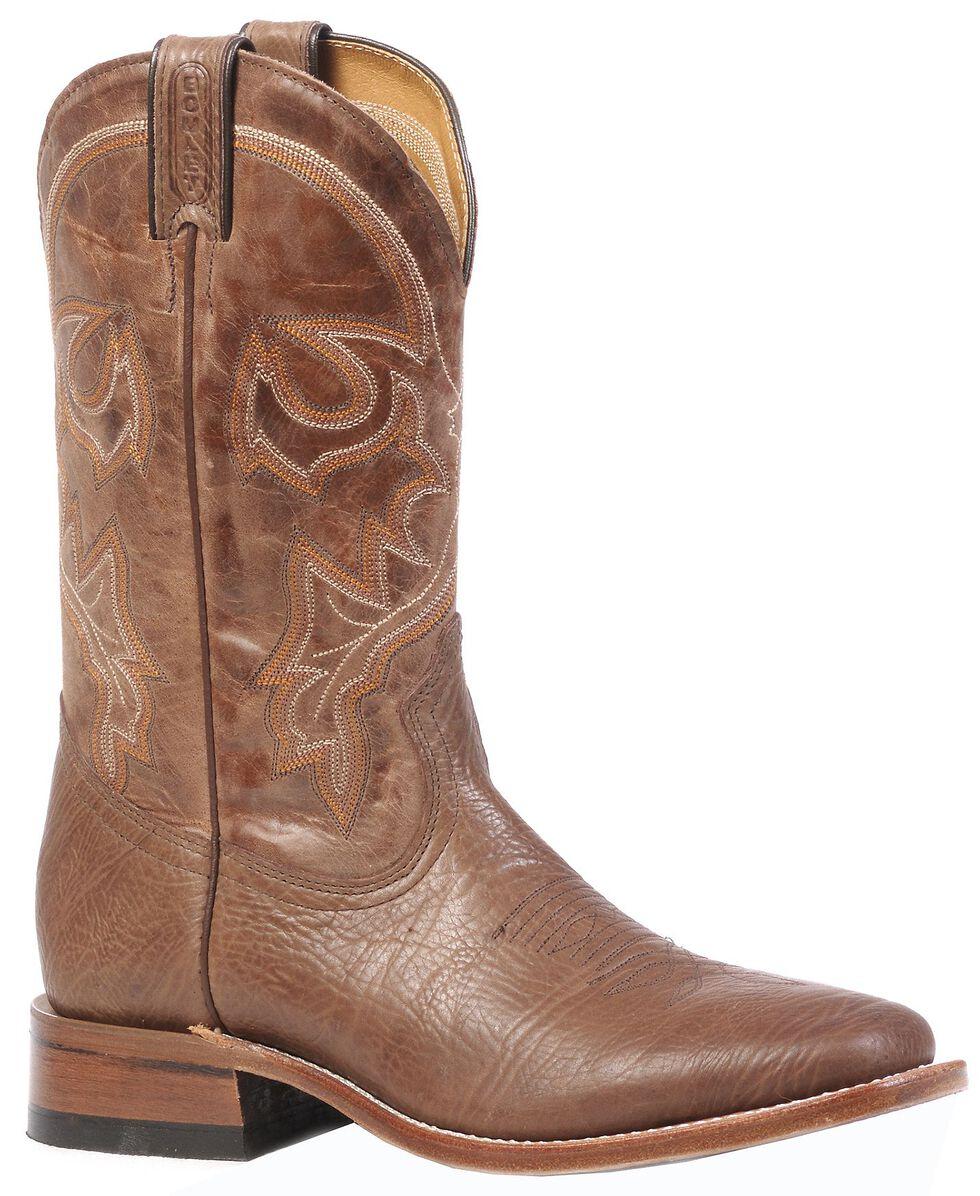 Boulet Stockman Cowboy Boots - Square Toe, Brown, hi-res