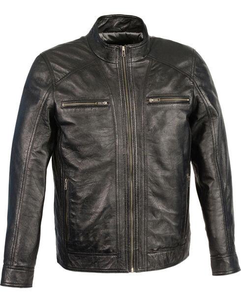 Milwaukee Leather Men's Sheepskin Moto Leather Jacket, Black, hi-res