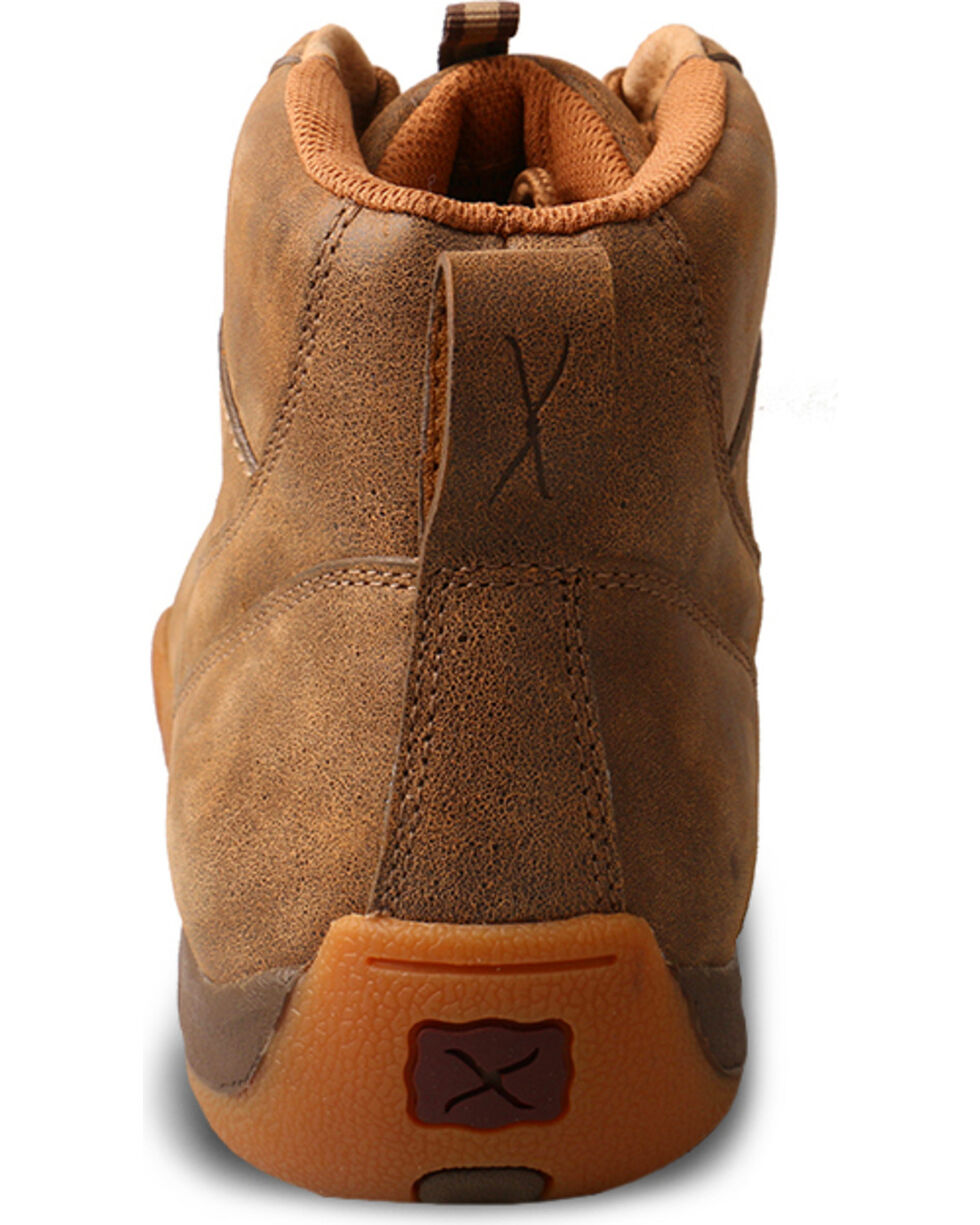 Twisted X Men's Brown Checkered Driving Moccasins - Moc Toe, , hi-res