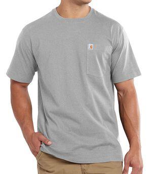 Carhartt Maddock Pocket Short Sleeve Shirt - Big & Tall, Hthr Grey, hi-res